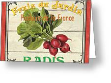 French Vegetable Sign 1 Greeting Card by Debbie DeWitt