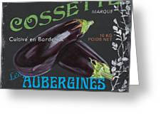 French Veggie Labels 4 Greeting Card
