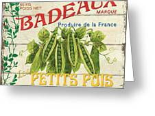 French Veggie Sign 1 Greeting Card by Debbie DeWitt