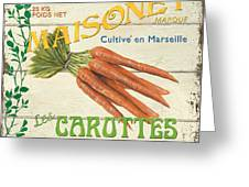 French Veggie Sign 2 Greeting Card