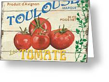 French Veggie Sign 3 Greeting Card
