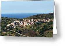 French Village By The Sea Greeting Card