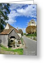French Village Road Greeting Card by Olivier Le Queinec