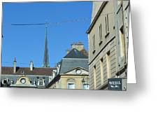 French Village Shops  Greeting Card