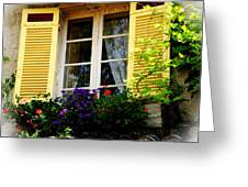 French Window Dressing Greeting Card