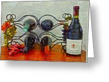 French Wine Rack Greeting Card