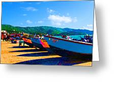 Frenchtown Boats Greeting Card