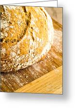 Fresh Baked Loaf Of Artisan Bread Greeting Card