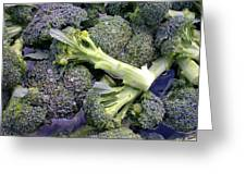 Fresh Broccoli Greeting Card