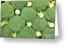 Fresh Broccoli Pattern Greeting Card
