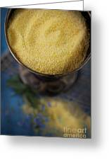 Fresh Corn Meal Greeting Card