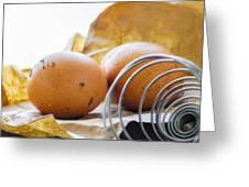 Fresh Eggs Just Laid Greeting Card