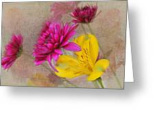 Fresh Flowers Painted Greeting Card