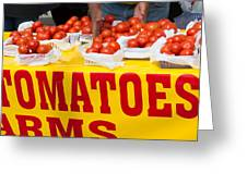 Cedar Park Texas Fresh Tomatoes Greeting Card
