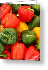 Fresh From The Market - Sweet Peper Mix Greeting Card