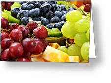 Fresh Fruits And Cheese Greeting Card