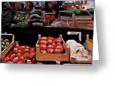 Fresh Fruits And Vegetables Greeting Card