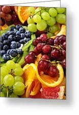 Fresh Fruits Greeting Card by Elena Elisseeva