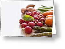 Fresh Garden Vegetables Greeting Card