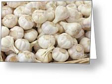 Fresh Garlic Bulbs Greeting Card