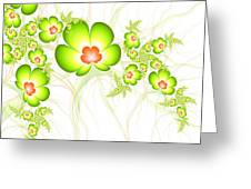 Fresh Green Greeting Card