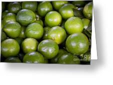 Fresh Limes On A Street Fair In Brazil Greeting Card