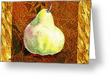 Fresh N Happy Pear Decorative Collage Greeting Card