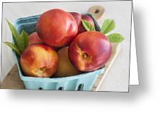 Fresh Nectarines Greeting Card
