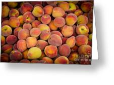 Fresh Peaches On A Street Fair In Brazil Greeting Card by Ricardo Lisboa
