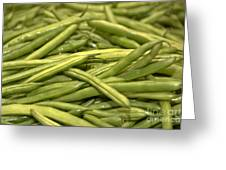 Fresh Picked Beans Greeting Card