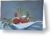 Fresh-picked Pomegranates Greeting Card