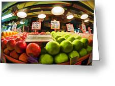 Fresh Pike Place Apples Greeting Card
