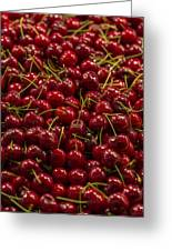 Fresh Red Cherries Greeting Card