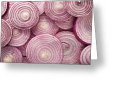 Fresh Red Onion Greeting Card
