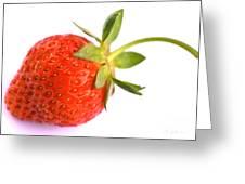 Fresh Red Strawberry Greeting Card