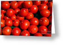 Fresh Ripe Red Tomatoes Greeting Card by Edward Fielding