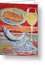 Fresh Salmon Dinner Greeting Card