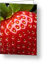 Fresh Strawberry Close-up Greeting Card