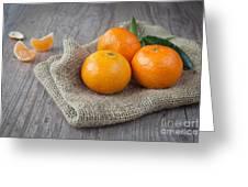 Fresh Tangerine Greeting Card by Sabino Parente
