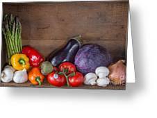 Fresh Vegetables Greeting Card