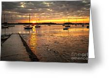 Fresh Water Sunset Greeting Card