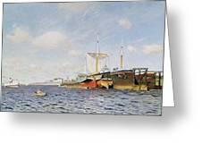 Fresh Wind On The Volga Greeting Card by Isaak Ilyich Levitan