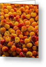 Fresh Yellow Cherries Greeting Card