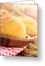 Freshly Baked Bread  Greeting Card