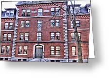 Freshman Dormitory-harvard University V2 Greeting Card