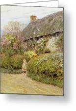 Freshwater Cottage Wc On Paper Greeting Card