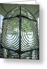 Fresnel Lens At Cape Blanco Lighthouse - Oregon Coast Greeting Card