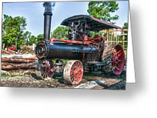 Frick Steam Tractor Greeting Card