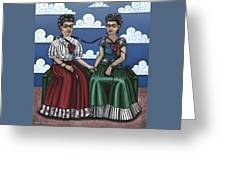 Frida Beside Myself Greeting Card