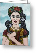 Frida In The Sky Greeting Card